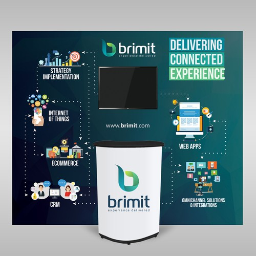 Trade show design with the title 'Brimit Trade Show Backdrop'