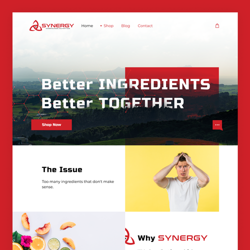 Nutrition website with the title 'Attractive and simple website for Supplement company'
