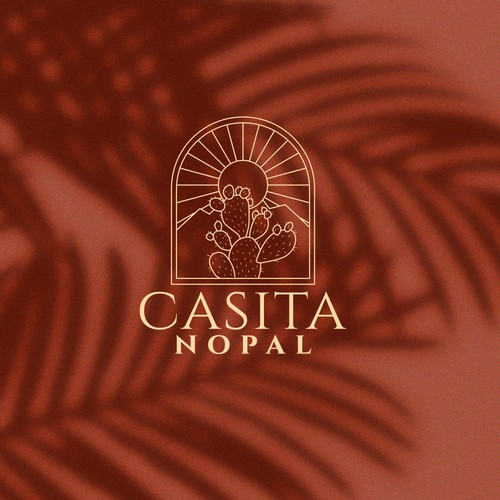 Vacation rental logo with the title 'Logo design for Casita Nopal'