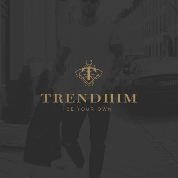 Bug logo with the title 'Logo Trendhim'
