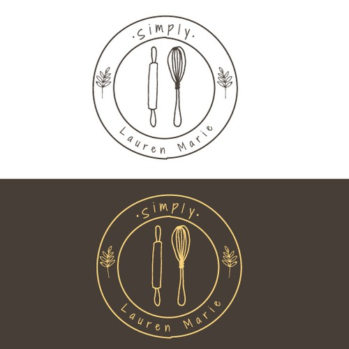 Gluten-free logo with the title 'Logo concept for hand-made granola'