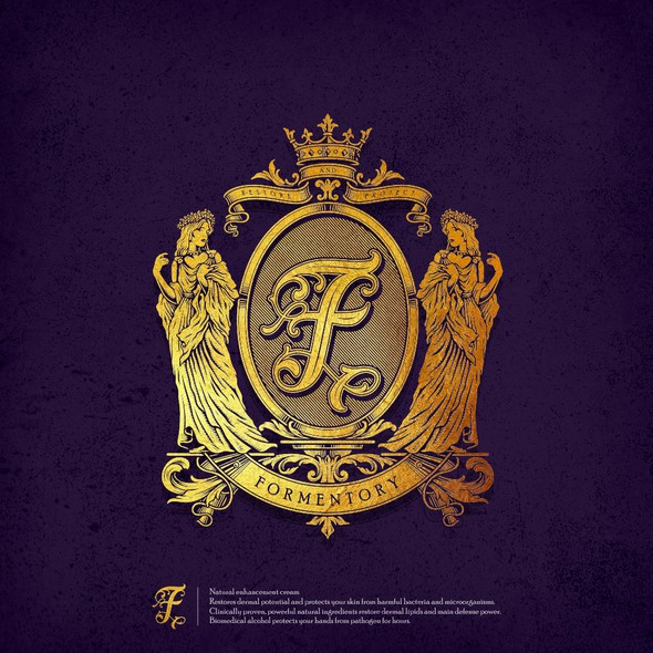 Family crest design with the title 'Classic Family crest style logo for Formentory'