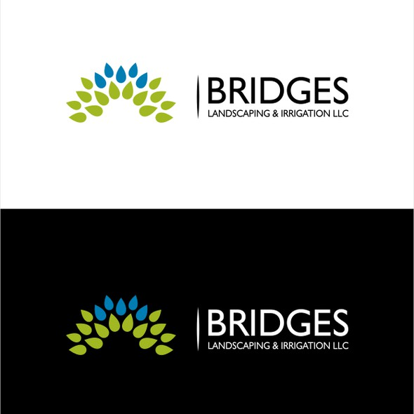 Irrigation logo with the title 'logo for Bridges Landscaping and Irrigation LLC'