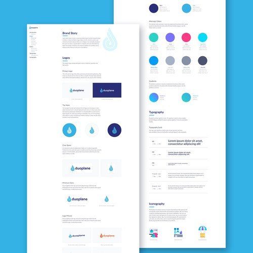 Automation design with the title 'Brand Guide Design for Tech Company'