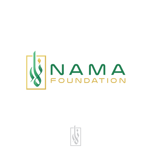Foundation logo with the title 'Logo concept for NAMA Foundation'