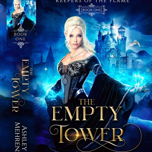 Elf design with the title 'The Empty tower book cover design by jesh art studio'
