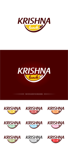 Lunch design with the title 'KRISHNA'
