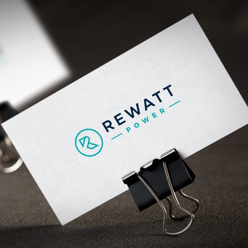 Power logo with the title 'Logo design for Rewatt Power'