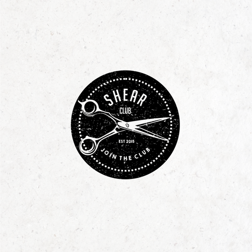Scissors design with the title 'Logo for barber shop Shear Club'