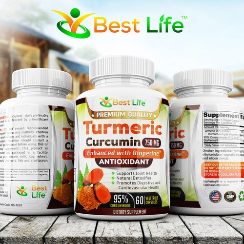 Supplement label with the title 'best live '