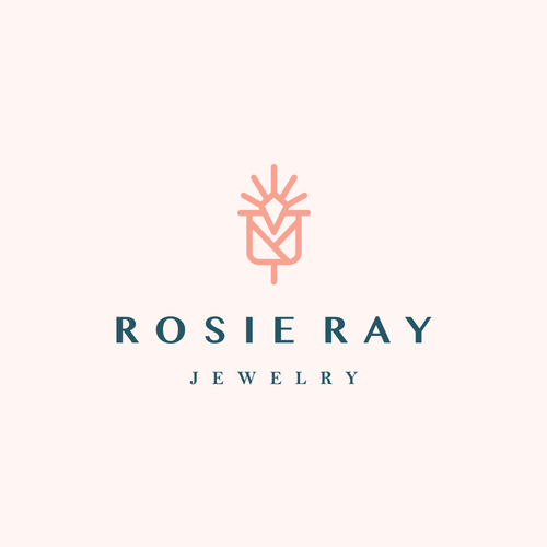 Abstract rose logo with the title 'light + diamond + rose '