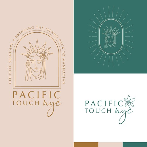 Polynesian design with the title 'Holistic Boho Logo design'