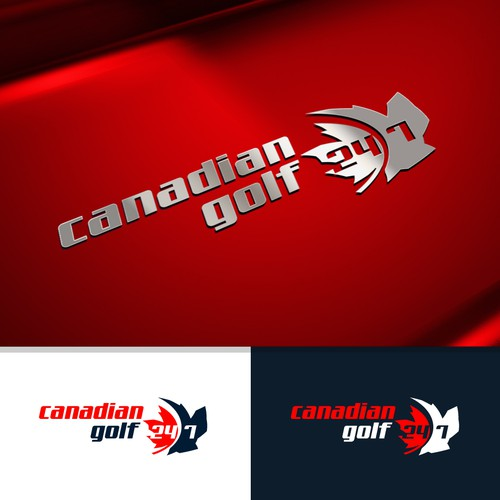 Golf logo with the title 'Canadian Golf'