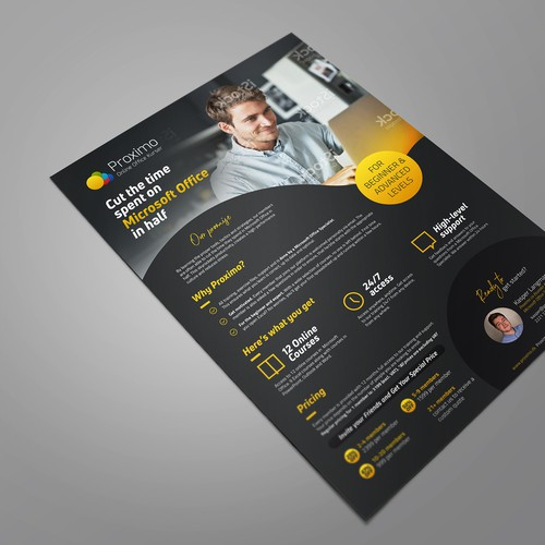 Sales page design with the title 'B2B Sales Flyer'