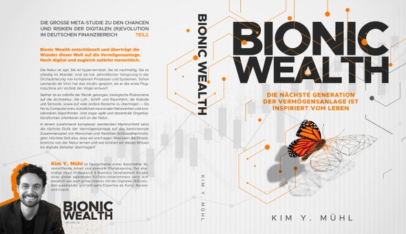 Butterfly book cover with the title 'Book cover for Bionic Wealth'