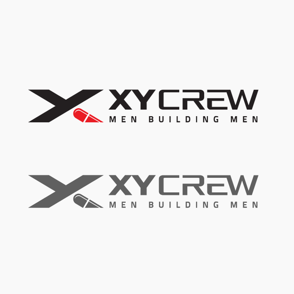 Support design with the title 'Bold logo designed for XY Crew.'