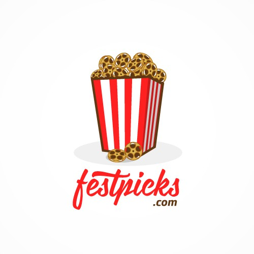 Popcorn design with the title 'Logo & website design for an indie film enthusiast website'