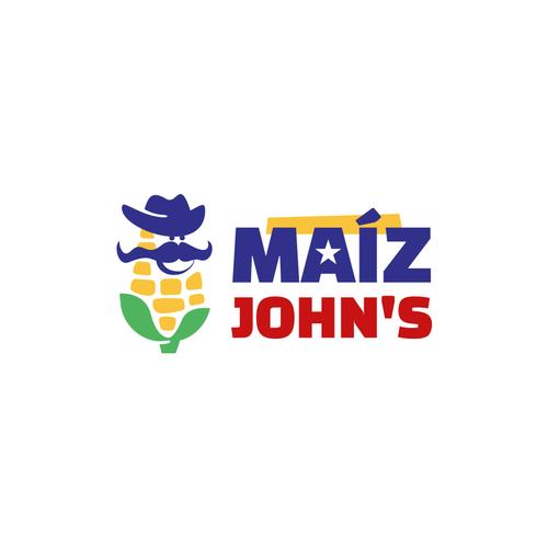Corn design with the title 'Maíz John's'