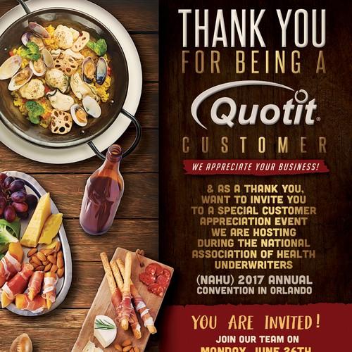Invite design with the title 'Creative Email Invite'