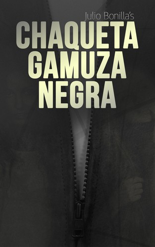Fashion book cover with the title 'Chaqueta Gamuza Negra, Kindle Book Cover'