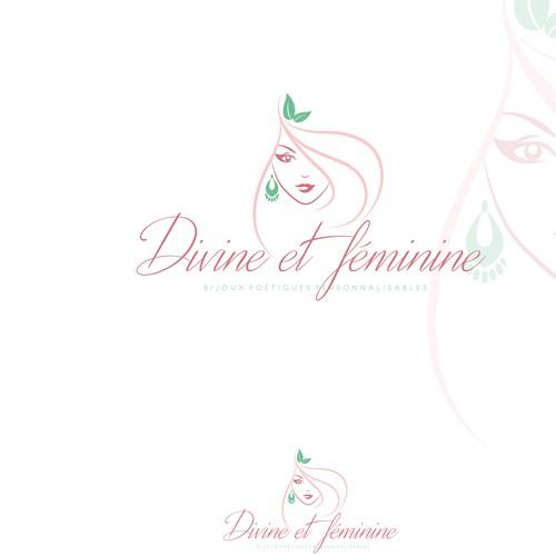 Female logo with the title 'Women logo-feminine'