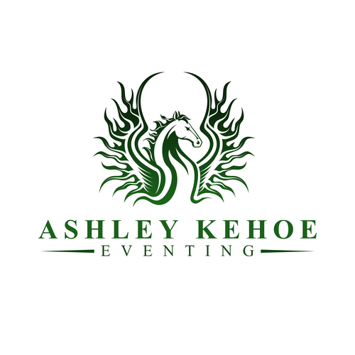 Pegasus logo with the title 'Ashley Kehoe Eventing'