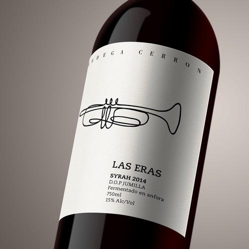 Spanish label with the title 'Label design for Las Eras Wines'
