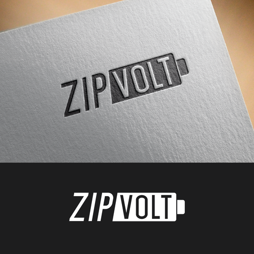 Battery logo with the title 'zipVolt'