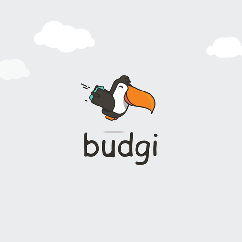 Travel logo with the title 'Budget my trip'