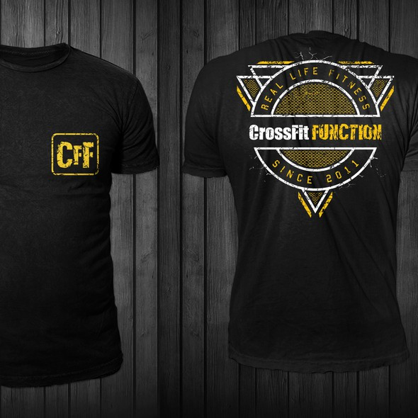 Grunge t-shirt with the title 'CrossFit FUNCTION t-shirt design'