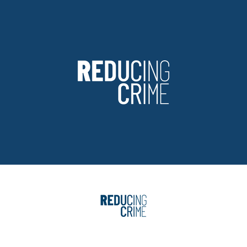 Crime logo with the title 'An original and clever logo design for Reducing Crime'