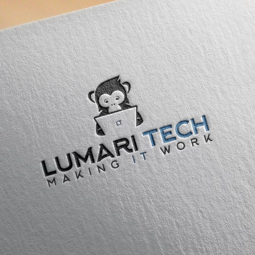 Monkey brand with the title 'Design a fun/clean logo for Tech Company'