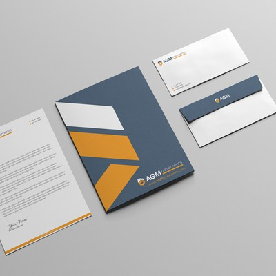 Stationery Set for Construction Company