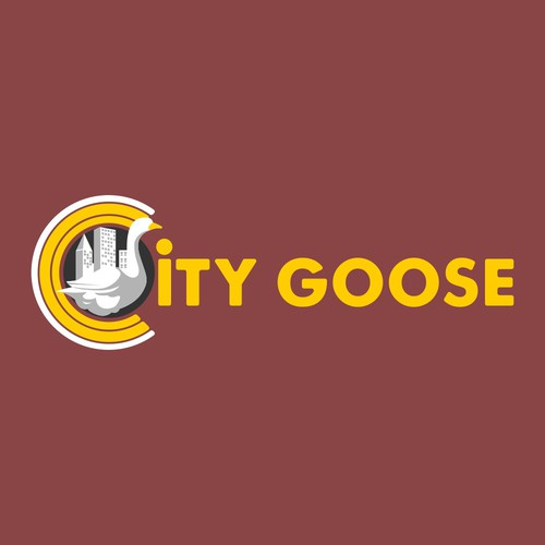 Goose logo with the title 'city goose logo'