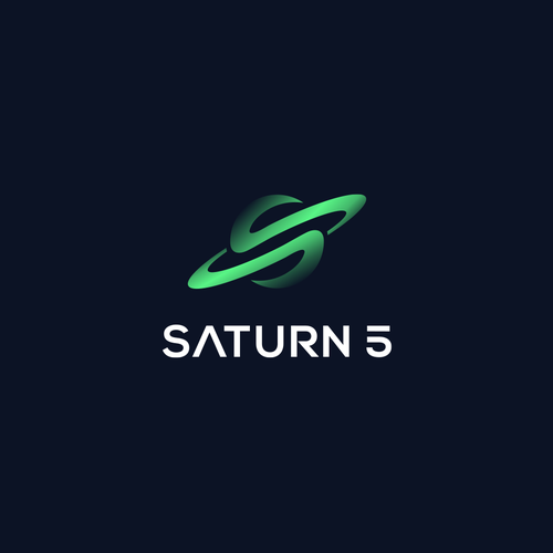 Saturn design with the title 'Saturn Logo - Letter S'