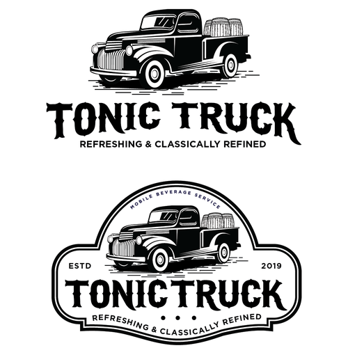 Refined logo with the title 'Design a Classy Upscale Logo for a Mobile Bar Service Truck'