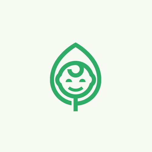 Nanny logo with the title 'Iconic logo for child health protection organization'