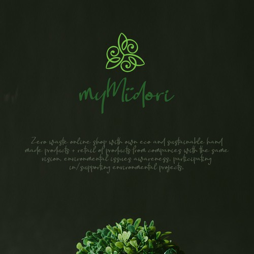 Recycling design with the title 'Logo for myMïdori'