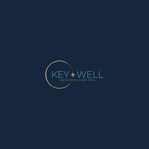 Wellness brand with the title 'Simple logo design for spa resort'