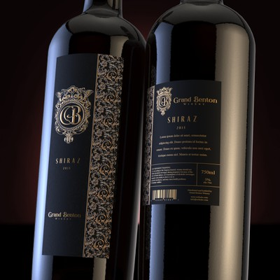 Luxury wine label design
