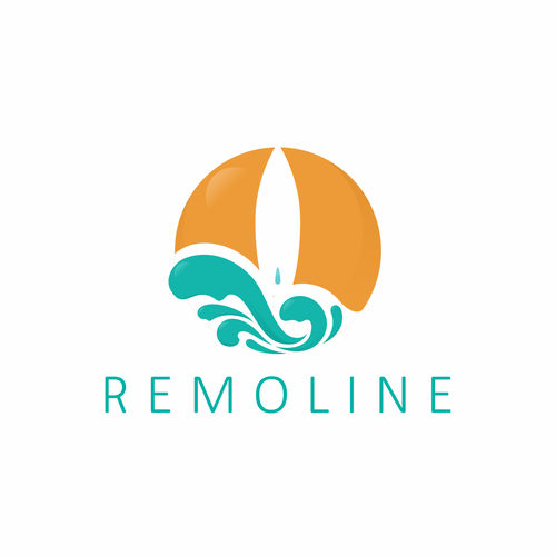 Surfer logo with the title 'Logo for Remoline Woman Swimsuit'