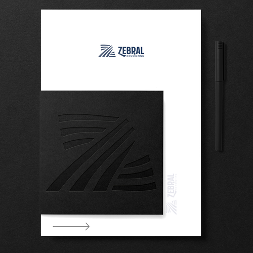 Zebra design with the title 'Zebral'