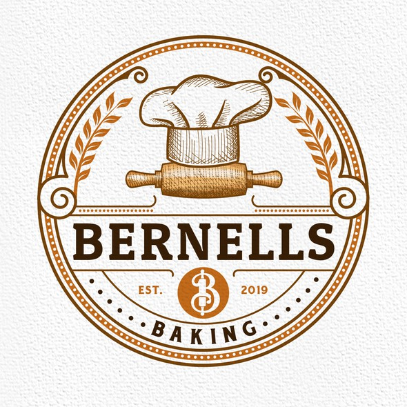 Chef hat design with the title 'Bernells Baking'