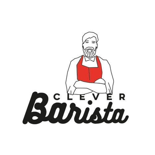 Barista logo with the title 'Logo concept for Clever Barista'