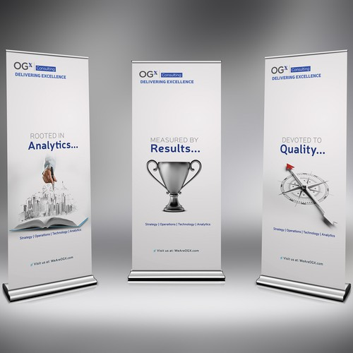 Trade show design with the title 'trade Show Standing Banners'