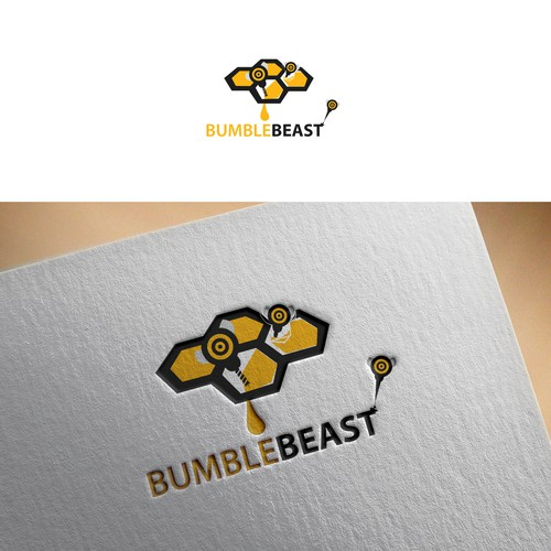 Bumblebee design with the title 'Logo Design'