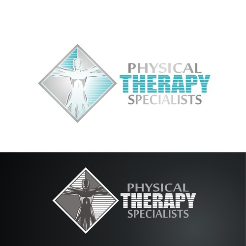 Physical therapy design with the title 'Physical Therapy Specialists Logo'
