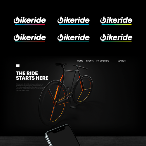 Ride design with the title 'bike Logo design for sale'