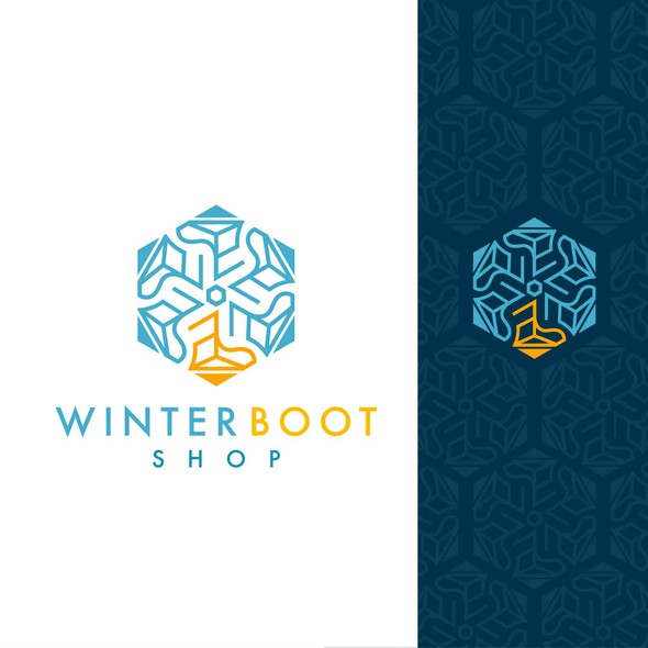 Shoe logo with the title 'Sleek logo for Winter boot shop'