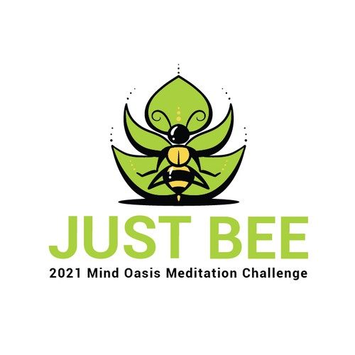 Bee logo with the title 'Just Bee Meditation'